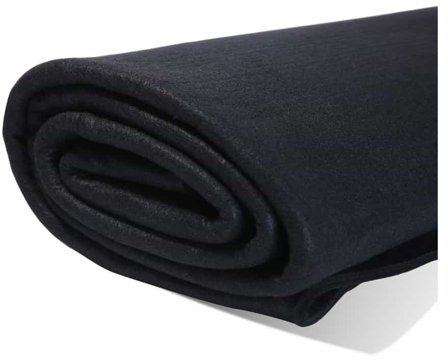 Hansway High Temp Felt Carbon Fiber Welding Blankets Black