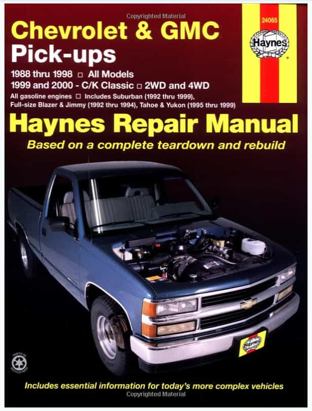 Chevrolet & GMC Pick-ups Haynes Repair Manual