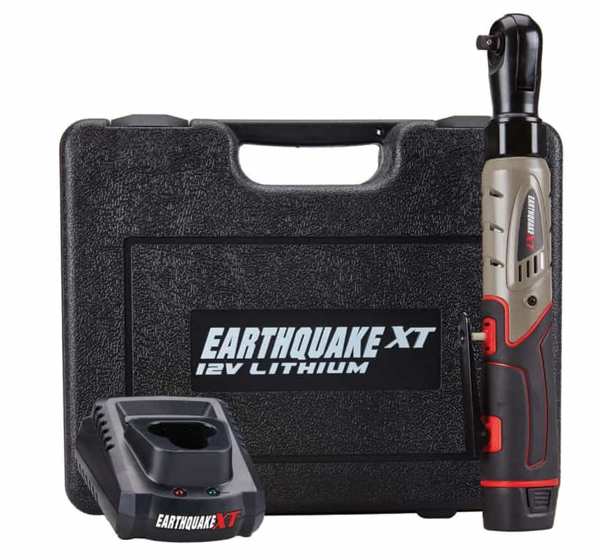 Earthquake 12V Cordless Xtreme Torque Ratchet Wrench Kit
